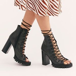 Free People x Jeffrey Campbell Palermo Heels 7 NEW